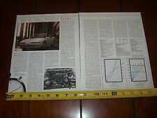 1990 TOYOTA SUPRA TURBOCHARGED - ORIGINAL 1990 ARTICLE