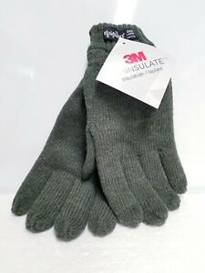 RefrigiWear Fleece Lined Thinsulate Insulated 100% Ragg Wool Grip Gloves LARGE