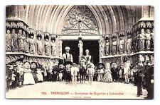 Vintage Postcard Tarragona Espana Spain Comparsa de Gigantes y Cabezudos B2