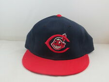 Canton Akron Indians Hat (VTG) - 1980s Prom Model by New Era - Fitted Size 7 1/4