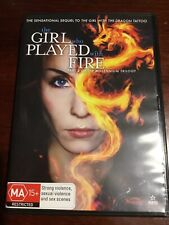 THE GIRL WHO PLAYED WITH FIRE Noomi Repace Like New DVD R4 PAL