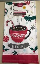 """NWT~BETTER HOMES & GARDENS LIM EDITION HOT COCOA RECIPE KITCHEN TOWEL 16"""" x 28"""""""