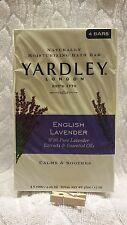 Yardley London**ENGLISH LAVENDER**4 Naturally Moisturizing Bath Bars~~4.25 oz EA