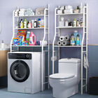 3 Layer Over Toilet Shelf Bathroom Towel Storage Washing Machine Rack Organizer