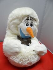 "Plush Disney Hideaway Pets from Frozen Olaf Snowman toy 14"" stuffed animal GUC"
