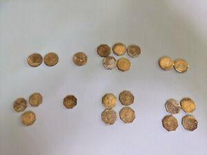 1852 1853 1854 1855 1857 California Gold Tokens 1/2 Bear Star
