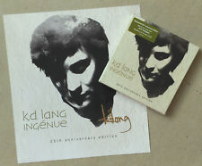 K.D. LANG * INGENUE * US 2CD 25TH ANNIVERSARY EDITION w/ SIGNED PRINT * BN&M!
