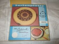 1963 DDR ROBOTRON Tortenplatte Siebdruck Glasauflage - UNBENUTZT , neuwertig