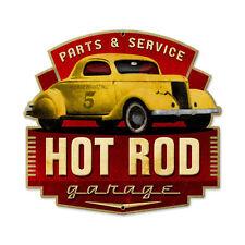 Original hot rod magazine garage parts & service retro sign tôle bouclier bouclier