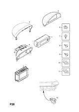 Genuine VAUXHALL/OPEL CORSA-C Display Unit/Multi-funzione Indicatore