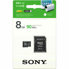 Sony 8GB Class 10 UHS-1 Micro SDHC up to 90MB/s Memory Card (SR8UY3A/TQ)