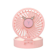 LED make-up mini mirror with USB small fan,pink