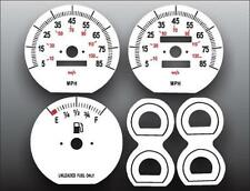 1987-1990 Jeep Cherokee Non Tach Dash Instrument Cluster White Face Gauges 87-90