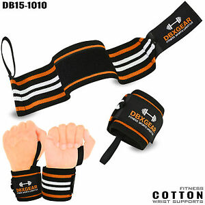 Weight Lifting Wrist Support Bandage Elasticated Cotton Gym Wraps Workout - 2X