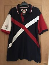 ENGLAND RETRO Cotton Traders Rugby Style Shirt, Short Sleeved, Size L, VGC