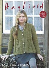 f5884ebef22d0 Sirdar 7795 Knitting Pattern Womens Swing Coat in Hayfield Bonus Aran Tweed