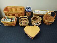 New ListingLot Of 8 Vintage Longaberger Baskets