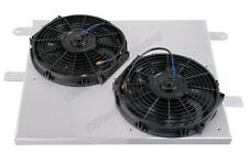 """CXRacing Aluminum Radiator Shroud + 12"""" Electrical Fans For 05-14 Ford Mustang"""