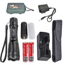 UltraFire CREE XML T6 Flashlight Torch Zoom Adjust+18650 Battery Charger Box
