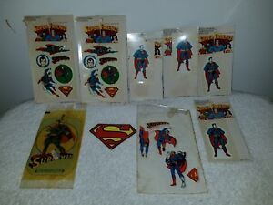 Vintage Lot Of Superman Stickers/Car Freshner/(4) Stick or Sew Patches (NIP)