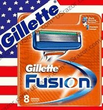8 Gillette FUSION Razor Blades Cartridge Replacement Refill Shaver Fits Flexball