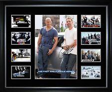 Paul Walker Vin Diesel The Fast and Furious Series Framed Memorabilia