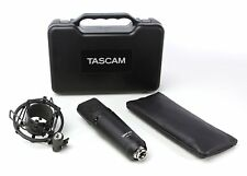 Tascam Studio Condenser Microphone with Shockmount, Hard and Soft Case (Tm-180)