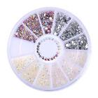 3D Nail Art Rhinestones Glitter Acrylic Pearl Tips Decoration DIY Manicure Wheel