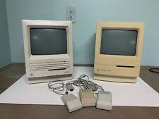 Vintage Macitosh Se SuperDrive & Macintosh Cladsic Computers (lot Of 2)
