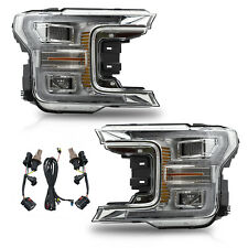 US Stock For Ford 18-20 F-150 Chrome w/ Sequential Turn Sig. FULL LED Headlights