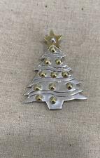 Mexico Taxco sterling  Silver 925 TZ - 08 JEM Christmas tree pin brooch