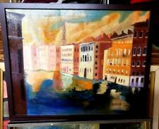 Original-One of Kind-Oil/Canvas Painting-Venice Sunset- Signed-COA-Listed Art