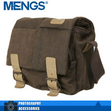 MENGS N2 Canvas And Leather Waterproof Shoulder Camera Bag
