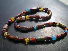 1 Nice Harmony Murano Red Brick Millefiori Bohemian Artistic Trade Bead Necklace