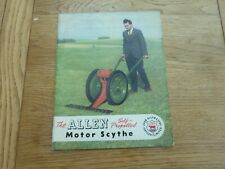 1952 ORIGINAL JOHN ALLEN & SONS FARM EQUIPMENT CATALOGUE - MOTOR SCYTHE ETC