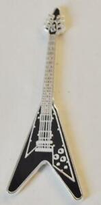 Black Flying V Guitar 2004 Somali Rep Silver plate and color