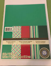 """Recollections Christmas Holiday Fun Cardstock  25 Sheets 8 .5"""" X 11"""""""