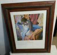 "Edgar Degas Vintage Print ""Seated Bather Drying Herself"" Framed Painting"