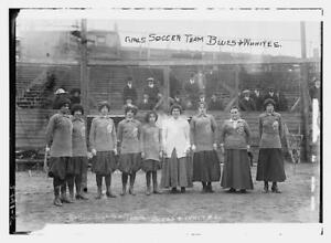 Photo:Girls Soccer Team -- Blues,Whites,1910-1915 6441