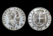 5 Lire 1870 Milan, Italie. Vittorio Emanuele II°. Argent. Belle qualité