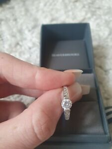 Beaverbrooks 9k White Gold and Cubic zirconia ring