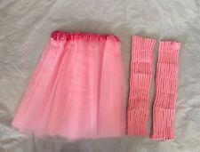 Leg Warmers Headband Sweatband Set 1980's Fancy Dress Costume Hen Party Hot Pink