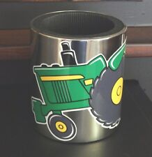 John Deere Tractor Swag MAGNETIC Stainless Steel CUP HOLDER, Vinyl JD decal