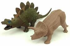 Lot of 2 Vintage Plastic Dinosaur Figures Made in England Invicta Plaxtics 1975