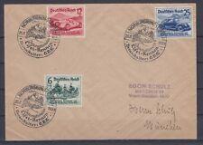 Deutsches Reich 695-697 Sonderstempel auf Sammlerbrief