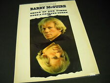 Barry McGuire Rare preserved Dunhill 1965 Promo Poster Ad Child Of Our Times
