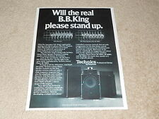Technics Pro Speakers Ad, 1978, SB-7000a, 6000a, 5000a, Article, Info, B.B. King