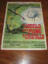MANIFESTO,1970,L'UCCELLO DALLE PIUME DI CRISTALLO DARIO ARGENTO,MUSANTE KENDALL