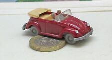 Wiking   033/4  VW Käfer Cabriolet mit Hörner,  braunrot