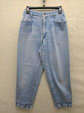 Vintage 80s Sasson Jeans Juniors 9 Medium Washed Pleated Tapered Cuffed Ladies